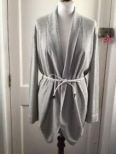 Fabiana Filippi Grey Cotton Cardigan Size Medium 12 Uk Belted Made In Italy