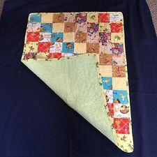 New Vermont handmade baby boy quilt, cotton batting, flannel back 28 x 38