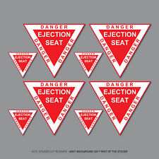 Danger Ejection Seat Model Aircraft Helicopter Car Stickers Decals - SKU2819
