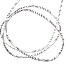 "WC342f French Wire Silver Fancy Twist Tube 1mm Bullion Jewelry Component 13""/pkg"