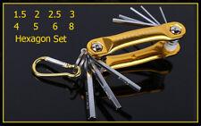 8pcs Folding Hexagon Key Allen Driver Set Hex Allen Wrench Screwdriver Set Tool