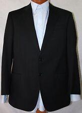 New Armani Collezioni 'G-Line' Black Wool 2-Bt Suit 38R/W32 EU48R.