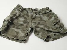 BOYS BABY GAP GREEN CAMOUFLAGE ADJUSTABLE WAIST SHORTS AGE 18-24 MONTHS