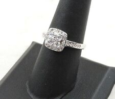 Halo Ring - Free Gift packaging Sterling Silver .775 cttw Clear Cubic Zirconia