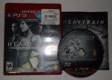 Heavy Rain - Director's Cut (Sony PlayStation 3, PS3, 2011) COMPLETE w/ Manual