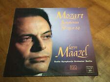 Mozart Symphonies 25 & 29 MAAZEL Swiss CONCERT HALL TURICAPHON LP SMS-2626 EX