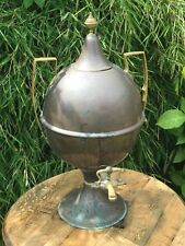 Antique Victorian Large Hot Water Tea Urn Tap Samovar Verdigris 19th Century