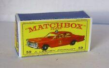 Repro Box Matchbox 1:75 Nr.59 Fire Chief Ford Galaxie