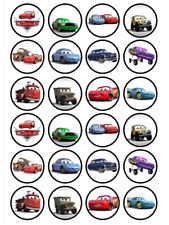 24 x Large Disney Cars Edible Cupcake Toppers Birthday Party Cake Decoration