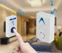 Wireless Door Bell LED Chime Remote Control Operated Bell For Home Security New