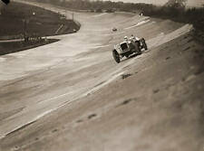 OLD PHOTO Farley Driving An Alvis On The Banking During The Junior Car Club