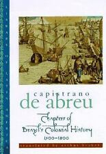 Chapters of Brazil's Colonial History 1500-1800 (Library of Latin-ExLibrary