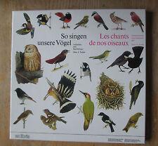 Hans A TRABER 2 Vinyles Le chants de nos oiseaux 33 1/3 Tours sous coffret