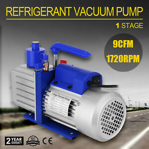 1 Stufig 9CFM Vakuumpumpe Unterdruckpumpe Drehschieber 1720 U/min Werkzeuge