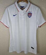 NIKE USA National Soccer Team Dri-Fit Short Sleeve Polo Shirt Womens XL White
