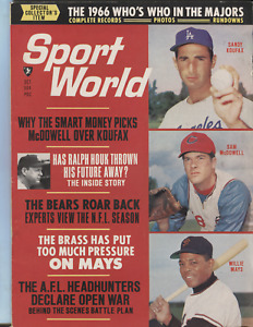 Sport World October 1966 Sandy Koufax Willie Mays Ralph Houk 082520DBE
