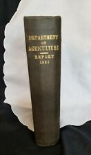 ANTIQUE BOOK- DEPT OF AGRICULTURE REPORT 1887