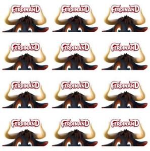 """One Dozen Ferdinand the Bull Cupcake Toppers Edible Image 2"""" Frosting Circles"""