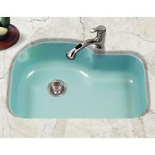 Houzer  Porcelan  Undermount Porcelain Enamel Steel SINK -MINT COLOR