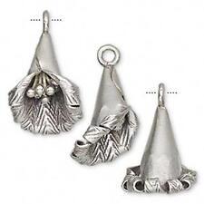 2359 Sterling Silver Flower Pendant Hills Tribe 22mm PK1 *UK EBAY SHOP*