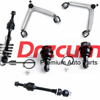 6PC Upper Control Arm Lower Ball Joint Sway Bar Link Set for Ram 1500 2WD