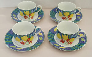 Studio Nova Spring Charm L3303 Cup and Saucer - Total of 4