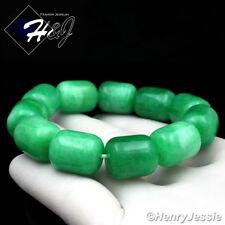 Natural Jadeite Green HEAVY BIG 14mm Beads Stretch JADE Bracelet*GB4/Free Box