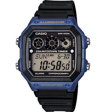 Casio AE-1300WH-2A Blue Illuminator Chronograph Digital Watch With Gift Box