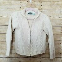 Aran Craft 100% Merino Wool Sweater Womens S Cable Knit Celtic Ireland Fisherman