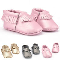 Fashion Tassel Baby Soft PU Leather Shoes Boy Girl Infant Toddler Crib Moccasins