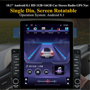 "1DIN 10.1"" Android 9.1 HD 1GB+16GB Bluetooth Car Stereo Radio GPS Nav"