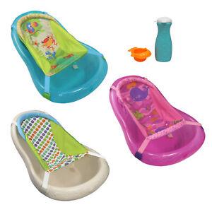 BABY NEWBORN WASH BATH TUB W/ FREE SUPPORT SLING, RINSER & BOTTLE !