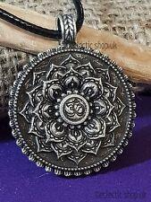 Fiore di Loto OM (AUM) Mandala Hindu Peltro Ciondolo/collana, biadesivo, d6