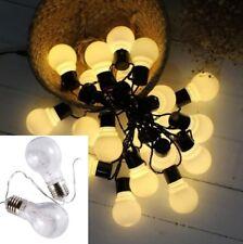 20 LED String Light Outdoor Party Garden Metal Festoon Bulb Fairy Wedding Decor