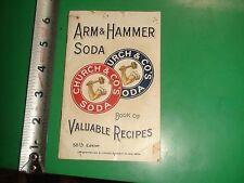 JC589 Vintage 1912 Arm & Hammer Baking Soda Recipe Booklet