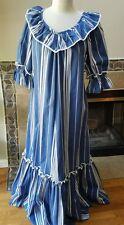 Vintage 1960s 1970s Pomare Hawaii Hawaiian Dress Gown Sz 10 blue striped mum mum