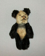 "Old Antique Vtg Ca 1950s Miniature Jointed Schuco PandaTeddy Bear 2.75"" Tall"
