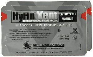 L@@K CELOX HYFIN VENT CHEST SEAL| SINGLE PACK |EMS NAR Wound Dressing TRAUMA !!