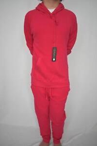 Ladies Women's Pink Hoody Jogging Suit Tracksuit XS-XL