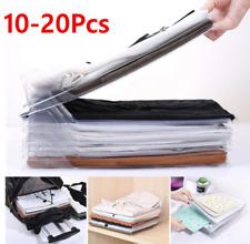 10/20Pcs Clothes T-Shirt Folder Magic Folding Flip Board Fast Laundry Organizer