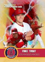 5 Mike Trout 2009 Limited Edition Custom Rookie Trading Card Los Angeles Angels