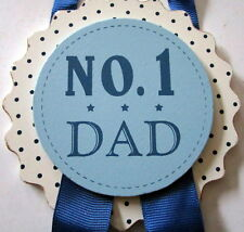 """NO. 1 DAD"" HANGING BADGE STYLE PLAQUE SIGN! CUTE CHRISTMAS STOCKING FILLER! BN"