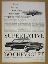 1960 Chevrolet Chevy IMPALA Sport Coupe & Sedan art vintage print Ad