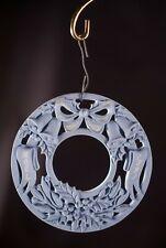 Vtg Wedgwood Blue Jasperware 1991 Christmas Ornament 1st Annual in Box