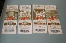2004 Baltimore Orioles 50th Anniversary 4 Different Full Ticket Lot Cal Ripken