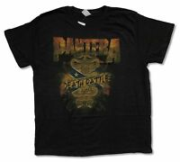 """PANTERA """"DEATH RATTLE""""  BLACK T-SHIRT NEW OFFICIAL ADULT MUSIC BAND"""