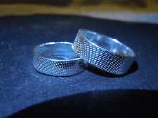 New Pure Silver .999 Bullion Wedding Band Set Made By Anarchy P.M. Jewelry #K6