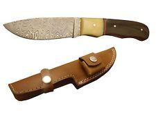 "Pioneer Damascus Steel Hunting Knife Buffalo Horn 9"" Pt-1440 ( Bogo Sale)"