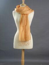 Silk scarf shawl wrap 100% elegant silk Topaz color