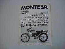 advertising Pubblicità 1971 MONTESA KING SCORPION 250